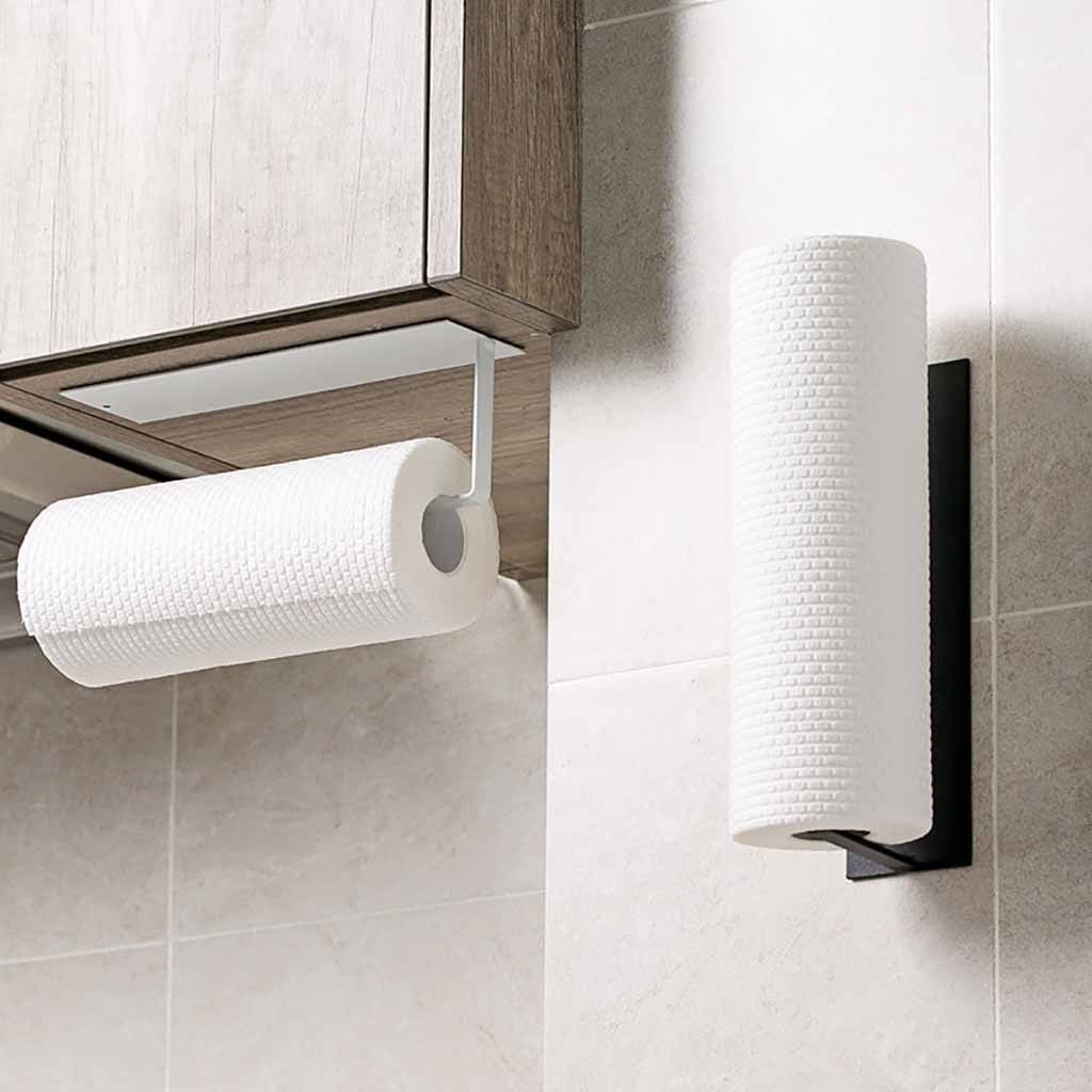 TKHP Self-adhesive Accessories Under Cabinet Paper Roll Holder