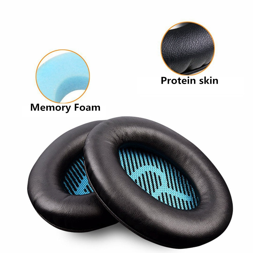 TKHP Replacement Protein Leather Foam Ear Pads Cushions