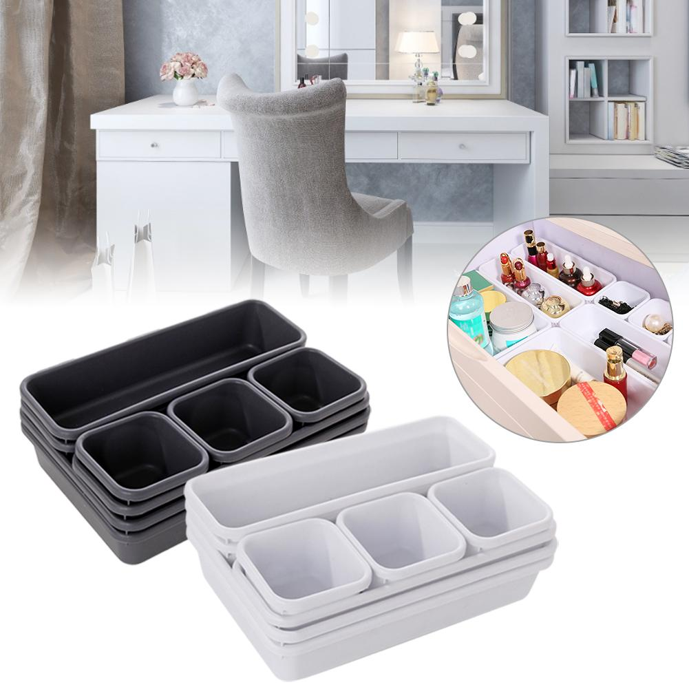 TKHP 8pcs/set Home Drawer Organizer Box Trays Storage Box