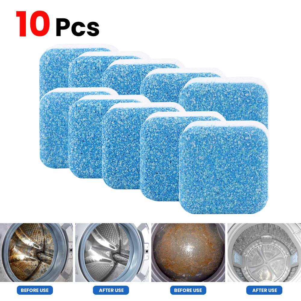 TKHP 10 pcs Washing Machine Cleaner Descaler Deep Cleaning Deodorant