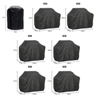 TKHP 7 Sizes Black Outdoor Waterproof BBQ Grill Cover