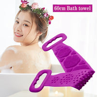 TKHP Magic Silicone Brushes Bath Towels Rubbing Back