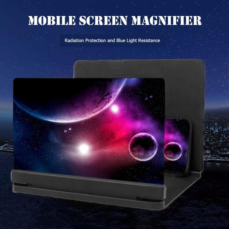 TKHP 8/9inch Mobile Phone 3D Screen Video Magnifier Bracket
