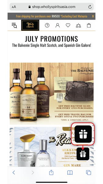 Wholly Spirits How to redeem points