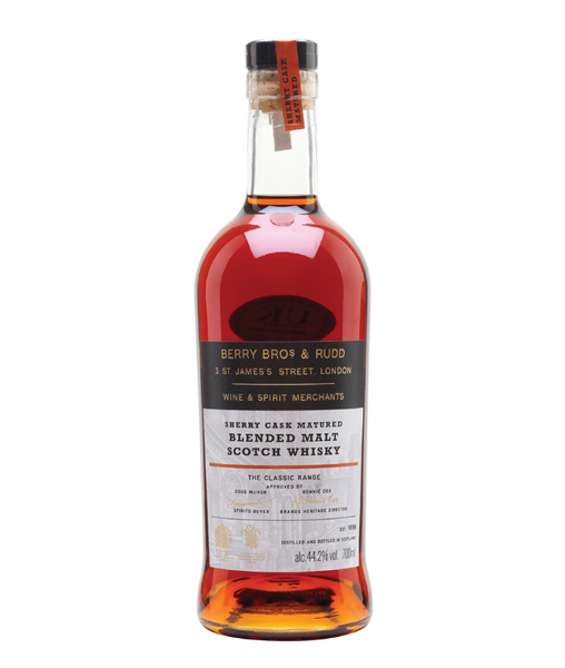 Buy Berry Bros. & Rudd Sherry Cask Matured Blended Malt - 44.2% - 700ml Online at Wholly Spirits Malaysia