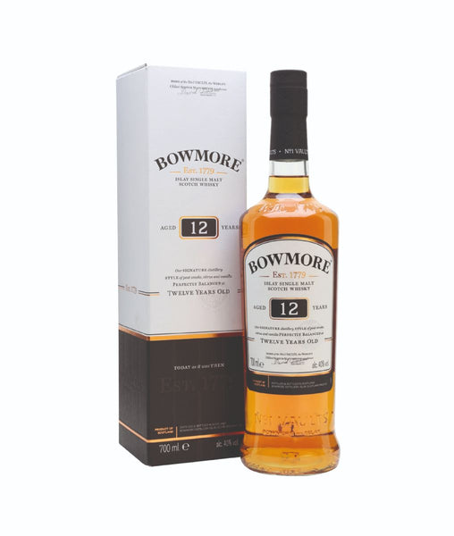 Buy Bowmore 12 Year Old Scotch Whisky - 40% - 700ml Online at Wholly Spirits Malaysia