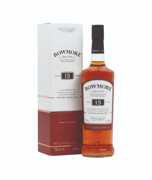 Buy Bowmore 15 Year Old Scotch Whisky - 43% - 700ml Online at Wholly Spirits Malaysia