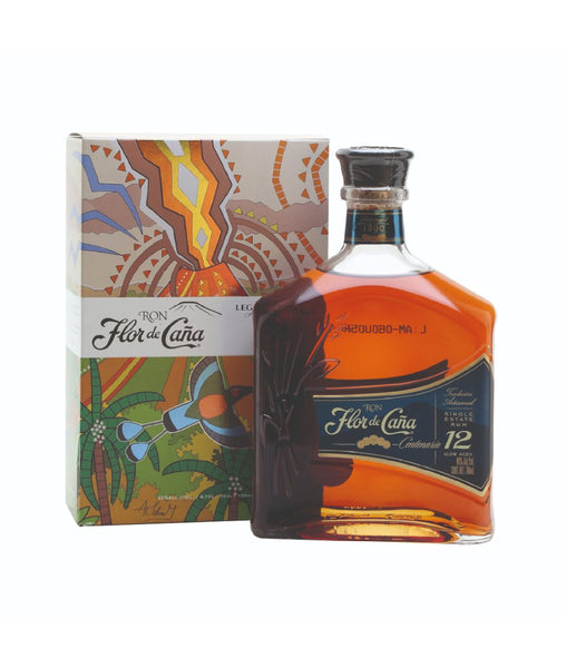 Buy Flor De Cana Centenario 12 YO - 40% - 700ml Online at Wholly Spirits Malaysia