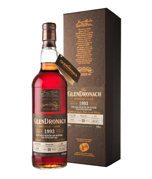 The GlenDronach 25 Years 1993 Cask #393 for Southeast Asia Edition Batch 1 - 49.9% - 700ml