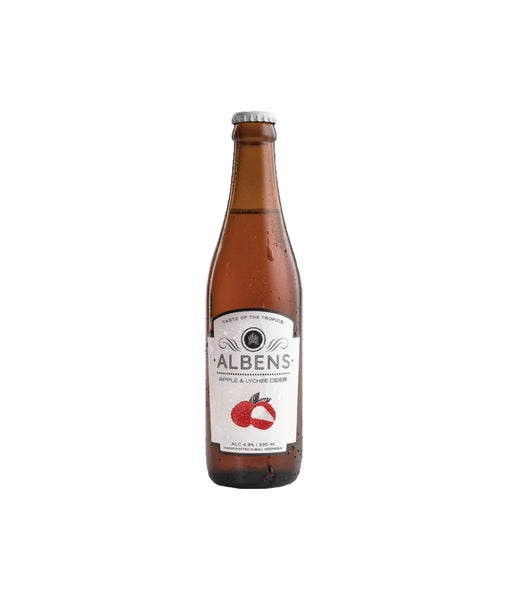 Buy Albens Apple & Lychee Cider - 4.9% - 330ml Online at Wholly Spirits Malaysia
