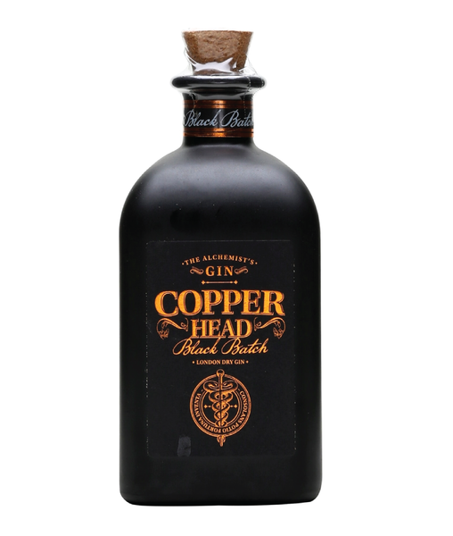 Buy Copperhead Gin Black Batch - 42% - 500ml Online at Wholly Spirits Malaysia