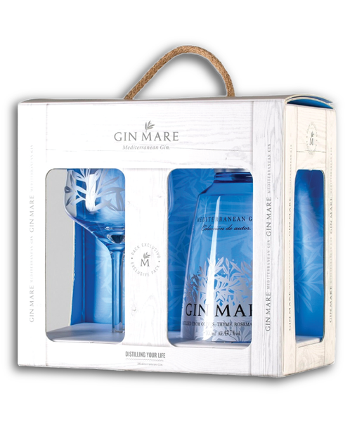 Buy Gin Mare Gift Set - 42.7% - 700ml Online at Wholly Spirits Malaysia