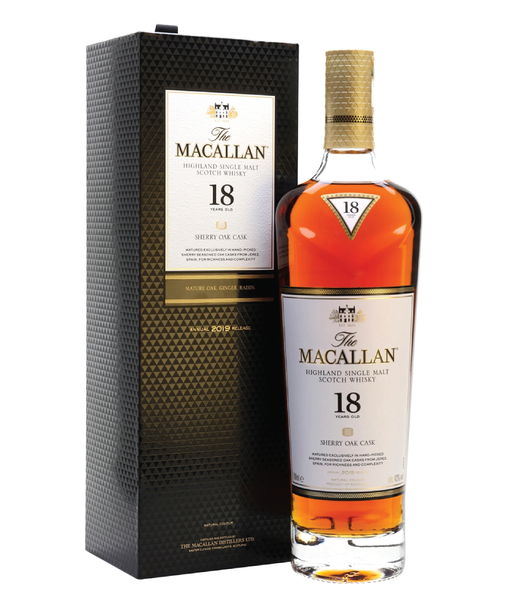 The Macallan 18yo Sherry Oak - 43% - 700ml