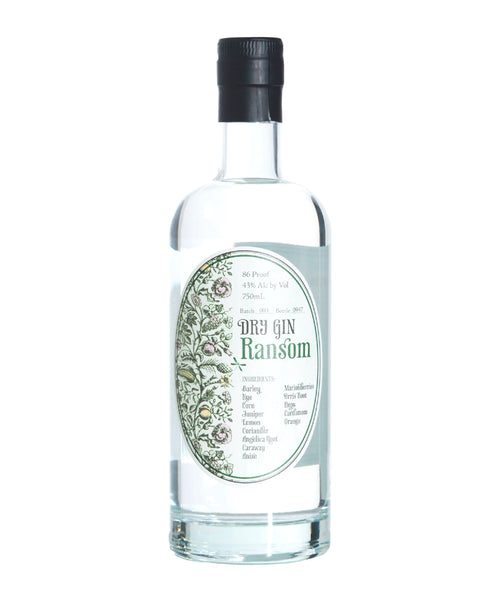 Buy Ransom Dry Gin - 44% - 750ml Online at Wholly Spirits Malaysia