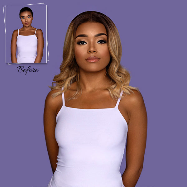 short blonde balayage glueless lace wig