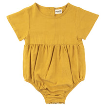 Load image into Gallery viewer, Linen Romper - Sunflower