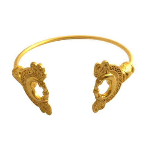 bracelet jonc serpent or