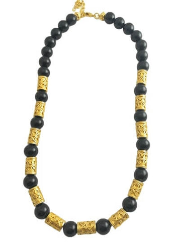 collier pierre onyx