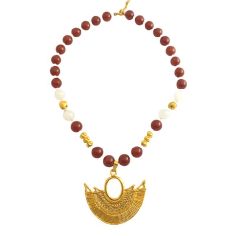 collier pierre rouge