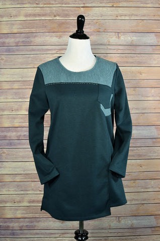 Knit Cotton Shirt Dress