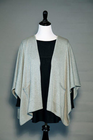 Silk/Cashmere Pocket Cape