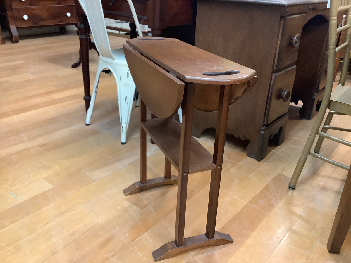 Small drop leaf end table