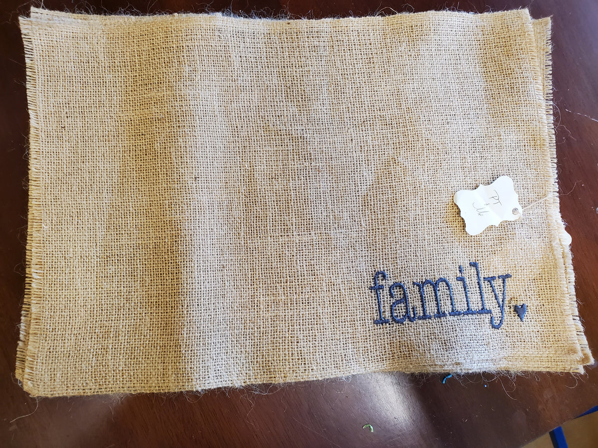 Embroidered Placemats