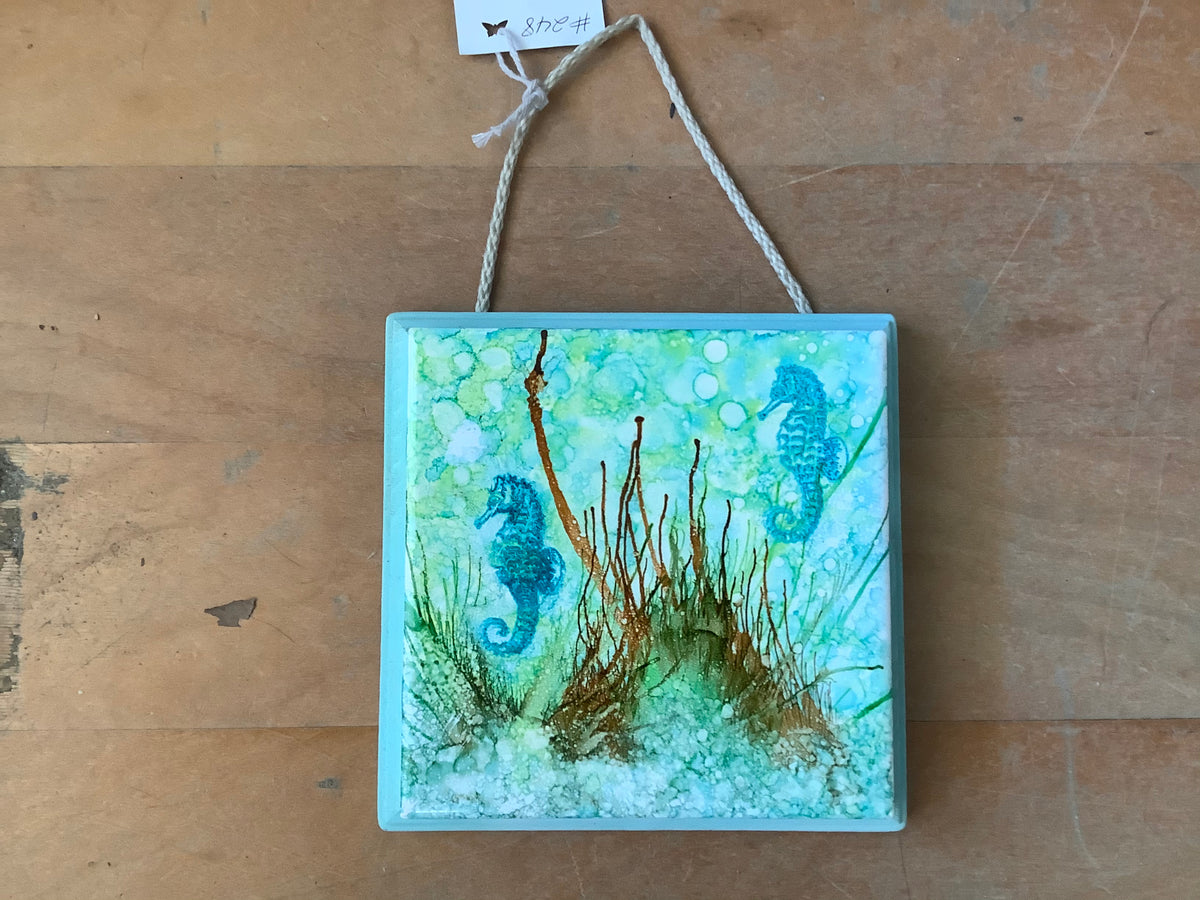 Sea life painted plaque