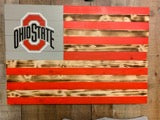 American flag w/ Ohio State logo and colors