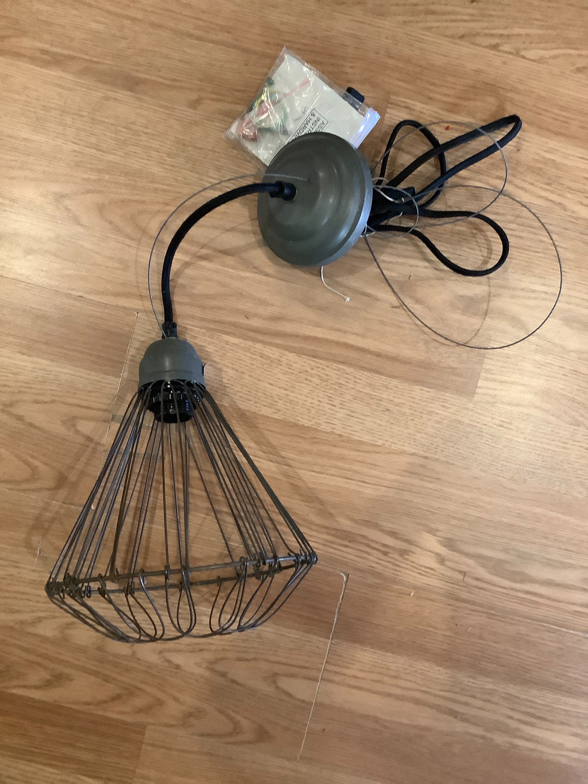 Metal light pendant
