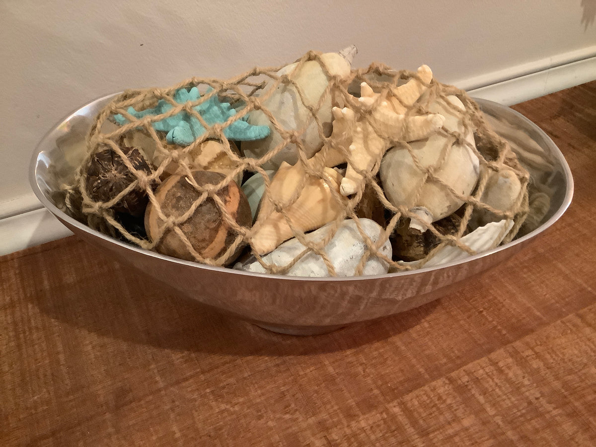 Metal bowl with shell potpourri