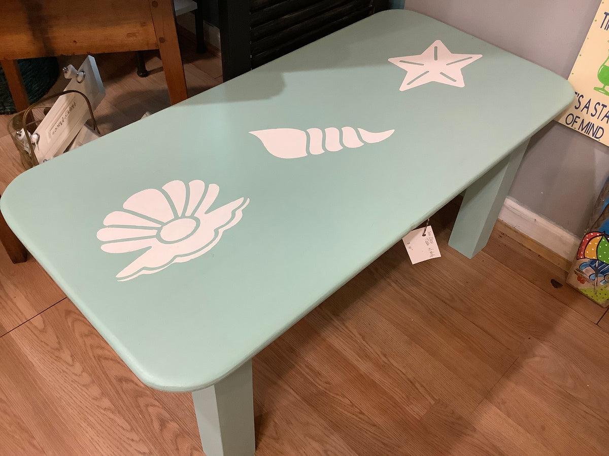 Shell painted coffee table