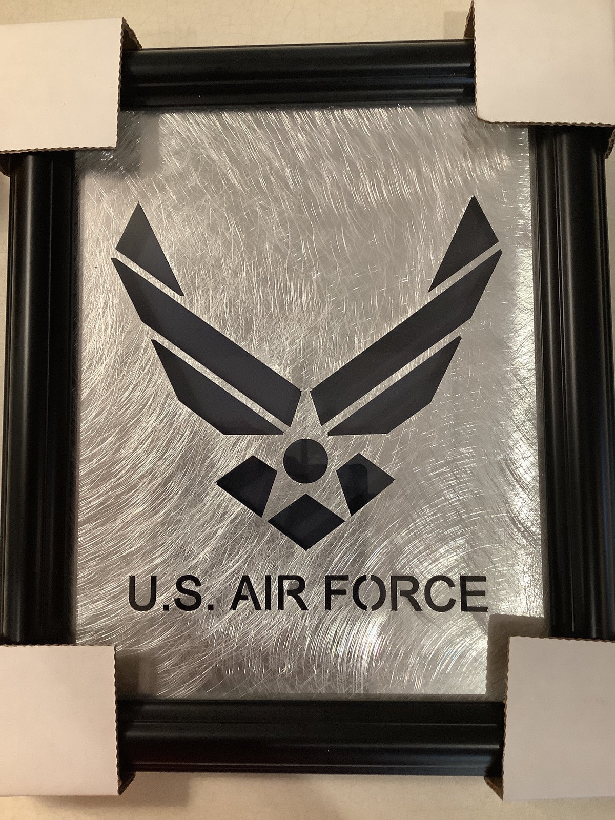 US Air Force framed metal decal