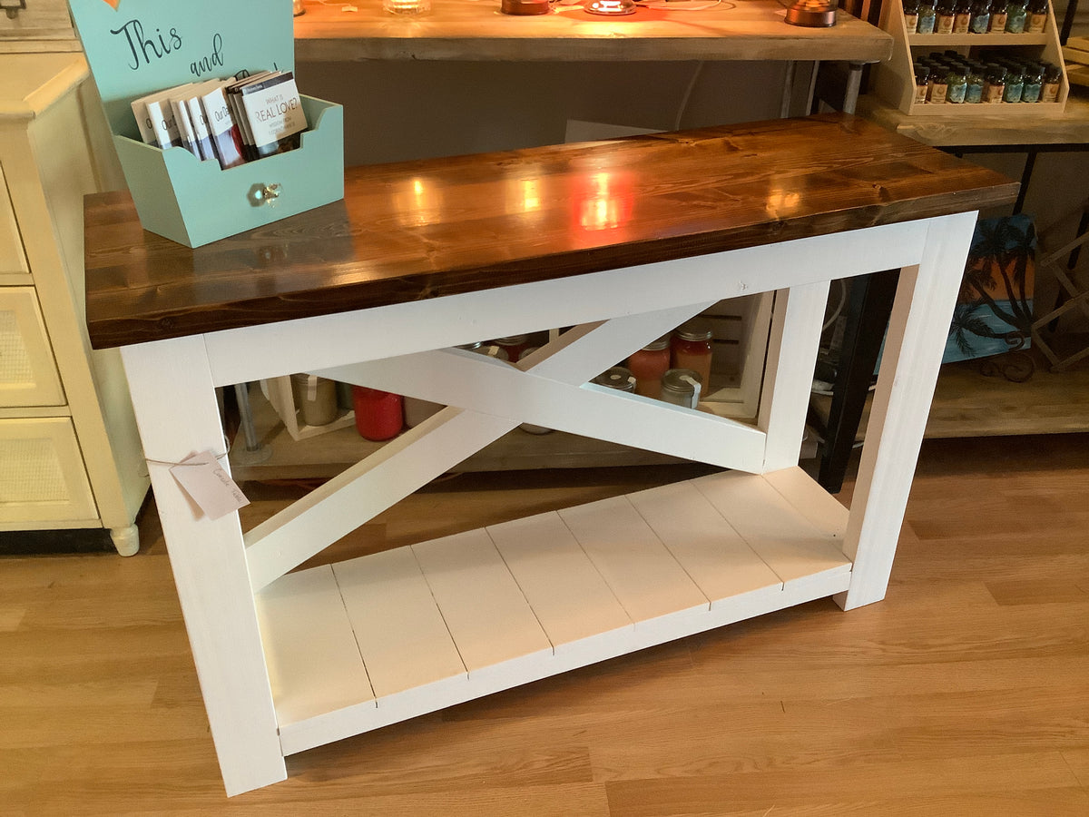 X slat console table