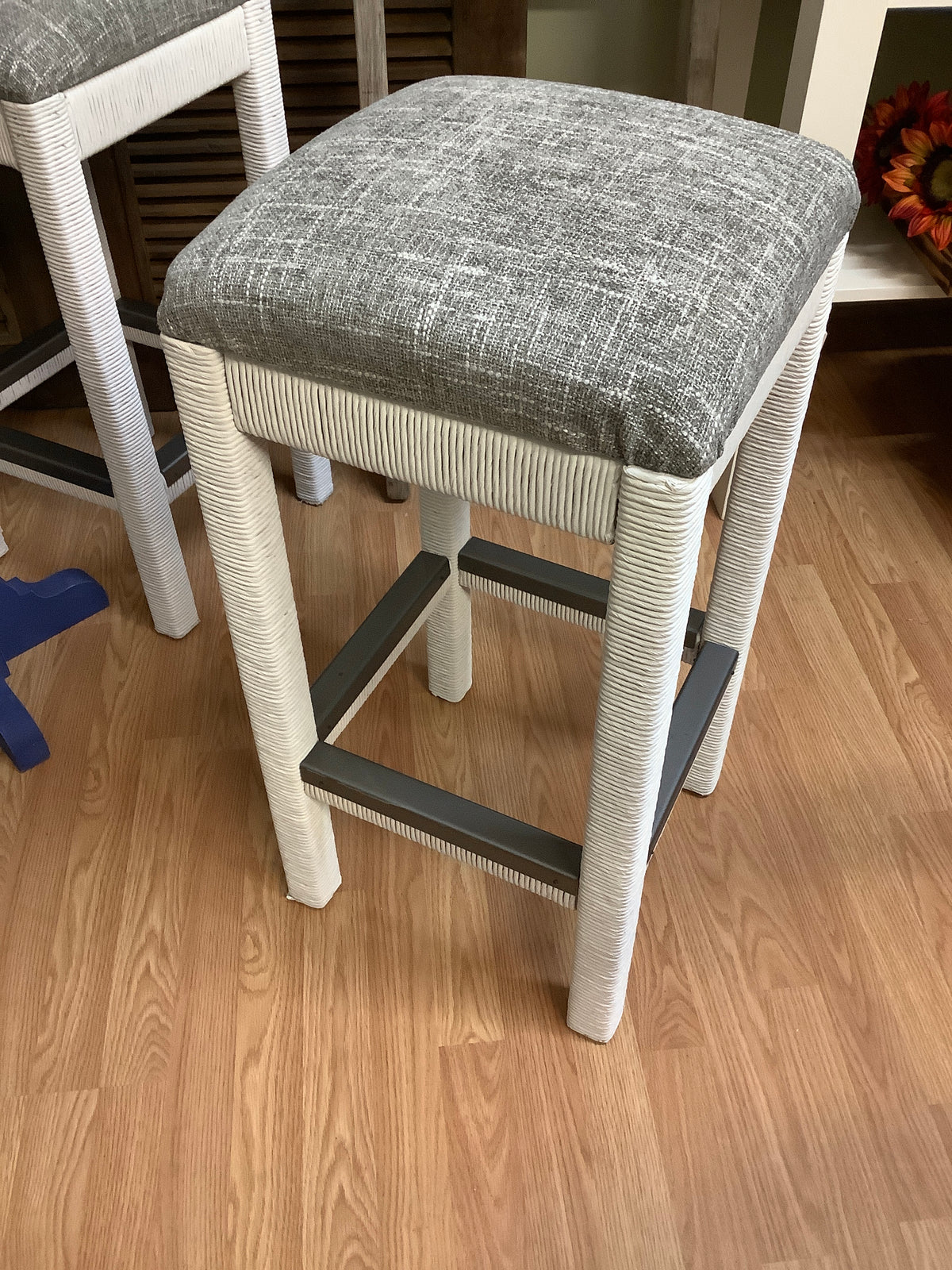 Wicker base stools