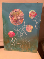 Jellyfish acrylic painting