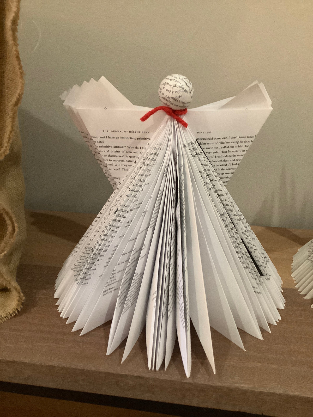 Folded book angel table top