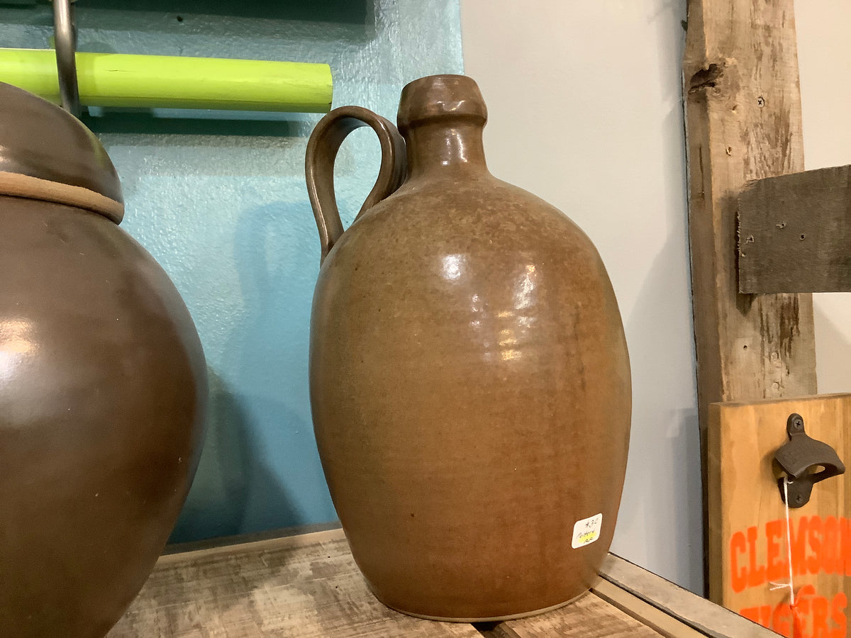 Brown pottery jug