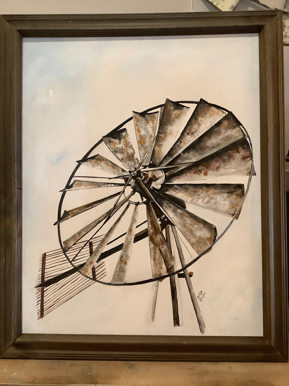 Hand painted windmill