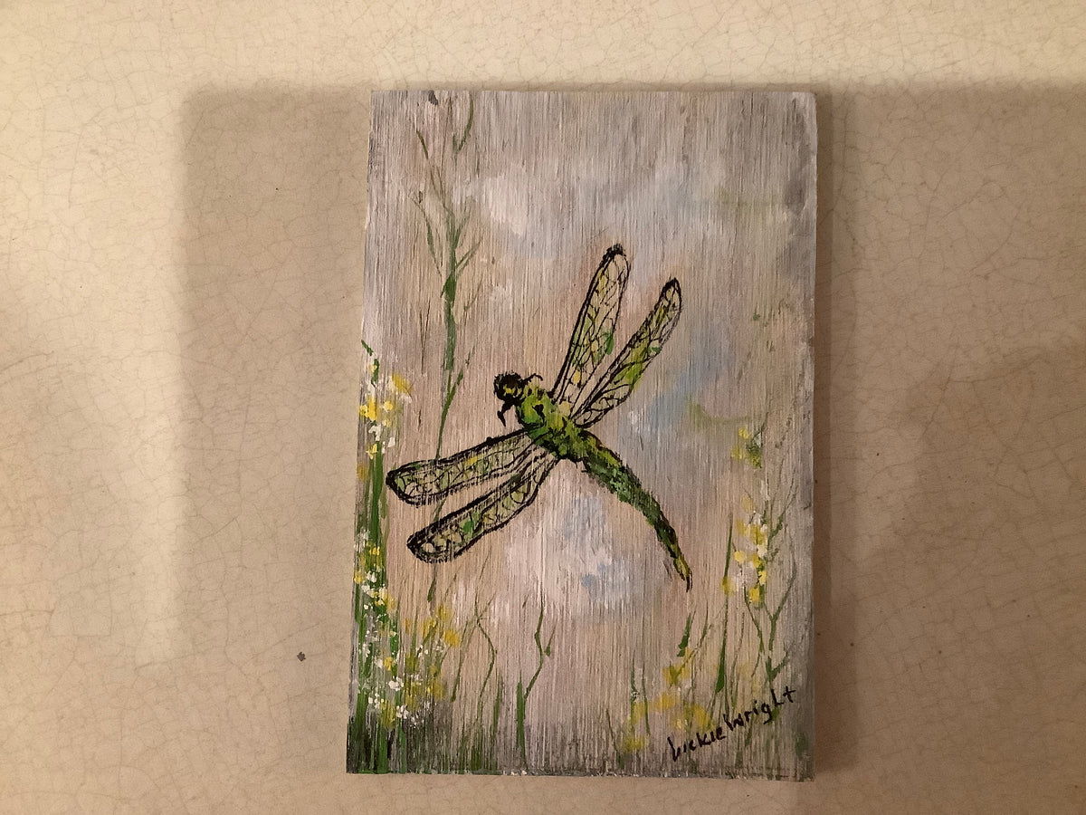 Hand painted picture on wood