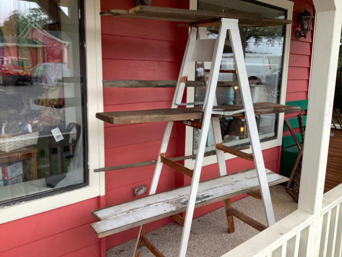 6' ladder with shelves