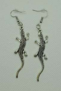 Silver Lizard Earrings - Kuhl Dragons
