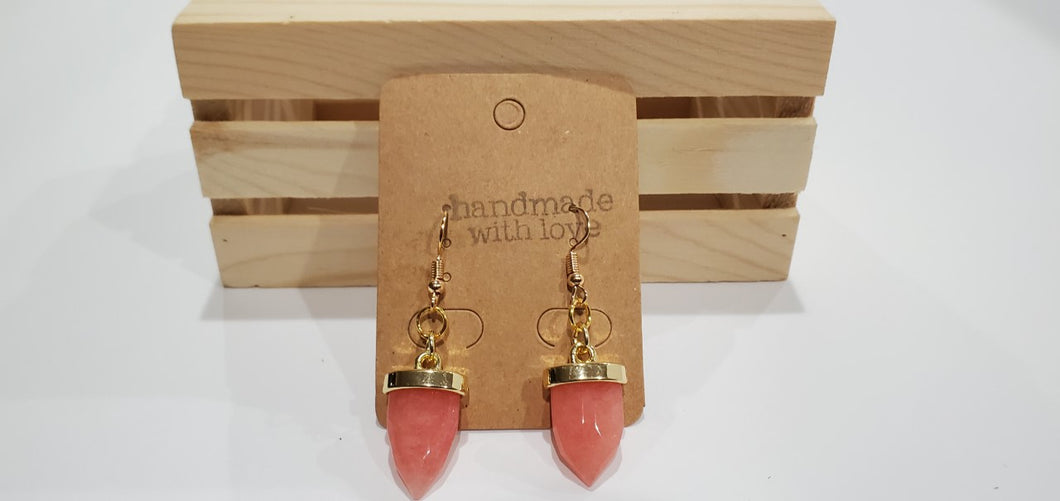 Strawberry Quartz Earrings - Kuhl Dragons