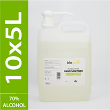 Load image into Gallery viewer, 10 x 5L Biogenic Hand Sanitiser ($10 per litre)