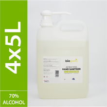 Load image into Gallery viewer, 4 x 5L Biogenic Hand Sanitiser ($11.5 per litre)