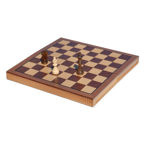 Chess Set: Book Style Folding – Oak Wood Board