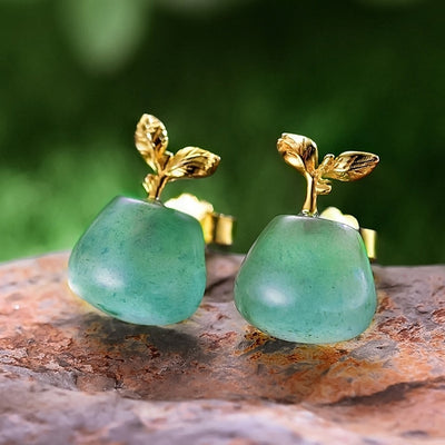 Aventurine Stud Earrings green