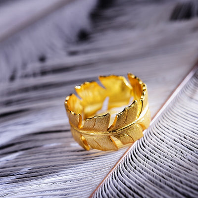 feather ring gold uk