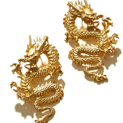 mother of dragon earrings gold