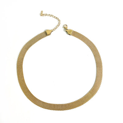 gold weaved choker necklace